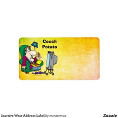 Inactive Wear Address Label #AddressLabel #Label#Fashion #InactiveWear #CouchPotato