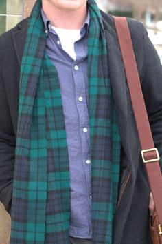Oxford + Plaid scarf combo