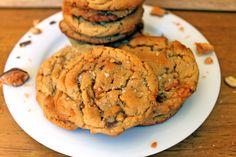Salted Butterfinger Peanut Butter Cookies