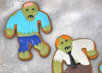 "Fred & Friends- create ""undead"" cookies! For all of you Walking Dead or zombie fans out there. A great idea for a halloween themed party or october birthdays. Hmmm haunted house anyone?"