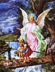 Royalty-Free Pictures of Guardian Angels & Archangels Catholic Art, Religious Art, Oracion Al Angel Guardian, Calling All Angels, Guardian Angel Pictures, Pictures Of Angels, Gardian Angel, Angel Prayers, Antique Illustration