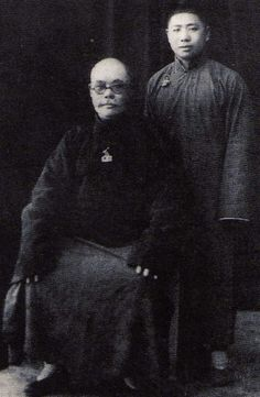 3 Generation Master of the Yang Family Yang Chen Fu with leading Tuti Desciple Fu Zhong Wen. Fu Zhong Wen became the 4 Generation Master of the Family (his blood line is on the Womens side of the Family his grand father was Yang Chen F's Bother)