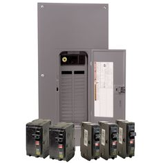 Square D QO 200 Amp Indoor Main Breaker Load Center with Cover - Value Pack Electrical Fixtures, Transfer Switch, Changing Jobs, Electrical Equipment, Circuit, Locker Storage, Maine, Home Improvement, Packing
