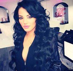 Beautiful Sexy Waves Black Full Lace Front Wig 26 inches