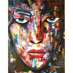 Face by Kevin Otieno, age 19, created at the Uweza Art Gallery in the Kibera slum of Nairobi, Kenya