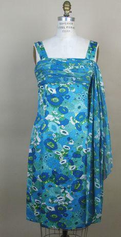 Mid 60s Christian Dior New York Summer Cocktail Dress Sm