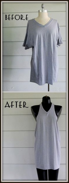 DIY Clothes Refashion: DIY Basic, Racer Back Tee,