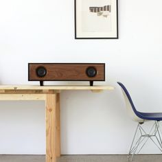 The Tabletop HiFi is an amplified speaker cabinet that delivers a pure, rich sound from any audio source. Top Speakers, Hifi Speakers, Audio Design, Speaker Design, Diy Bluetooth Speaker, Modern Man Cave, Tech, Home Decor Accessories, Floating Nightstand