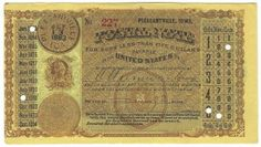 Pleasantville, IA 1883 Postal Note #227 Issued for 2 cents; payable at Ottumwa, IA