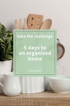 Staying organized can be extremely hard! Especially when we are pulled in so many different directions. How do I find the time? What can I use when I just don't have enough space? And how can I actually keep things organized? These are all valid questions! If you are ready to start getting your home under control, then sign up for my FREE 5 day organization challenge!