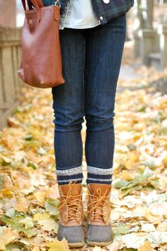 L Bean Duck Boots I have GOT to get a pair of these this fall. Ll Bean Duck Boots, Bean Boots, New England Fashion, Fall Winter, Autumn, Lifestyle Blog, Beans, Pairs, My Style