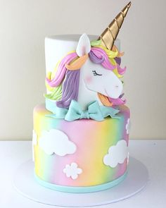 29 Ideas birthday cake girls unicorn for 2019 29 Ideas birthday cake girls unicorn for 2019 First Birthday Cakes, Birthday Cake Girls, 5th Birthday, Princess Birthday Cakes, Pink Birthday, Bolo My Little Pony, Unicorn Themed Birthday, Unicorn Party, Mermaid Birthday
