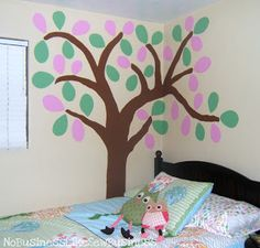 No Business Like Sew Business: Big Girl Bedroom Mural and An Alphabet Nursery