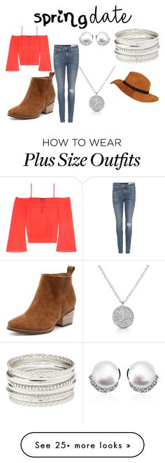 """Spring Fever - Pretty Plus-Size Style #3"" by cocolouise22 on Polyvore featuring Bebe, rag & bone and Charlotte Russe"