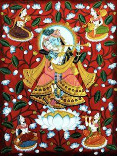 Krishna Hindu, Krishna Love, Hindu Deities, Radhe Krishna, Lord Krishna, Ganpati Bappa, Madhubani Painting, Krishna Images, Gods And Goddesses