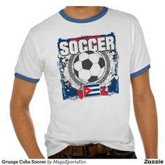 Grunge Cuba Soccer Tshirt