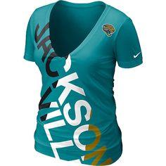 Size Large - Nike Jacksonville Jaguars Women's Off-Kilter Tri-blend T-Shirt - NFLShop.com