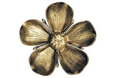 Brass Flower Petal Ashtrays, 7 Pcs