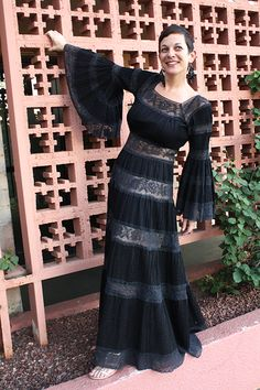 Black Lace Mexican Wedding Dress on Chicks Who Give A Hoot. Perfect for #Halloween