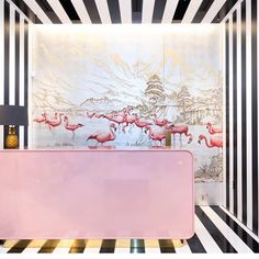 "184 Likes, 5 Comments - Scout Design Studio ® (@scoutdesignstudio) on Instagram: ""This flamboyance of flamingos is a @degournay delight. Miami's @aquazzura hotel designed by…"""
