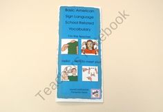 ASL pamphlet ( School related vocabulary) product from HandCraftEdASL.com