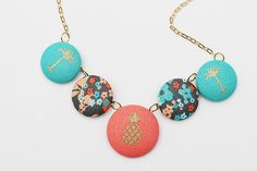 DIY Fabric Covered Button Necklace
