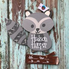Your place to buy and sell all things handmade Hospital Signs, Hospital Door Hangers, Baby Door Hangers, Hospital Birth, Woodland Theme, Woodland Baby, Cute Baby Names, Cute Babies, Nursery Signs