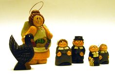 Set of Thanksgiving Figurines, Midwest of Cannon Falls Collectibles, Eddie Walker