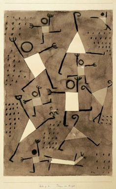 artemisdreaming:  Dancing Under the Empire of Fear, 1938 Paul Klee For more Paul Klee see archive HERE