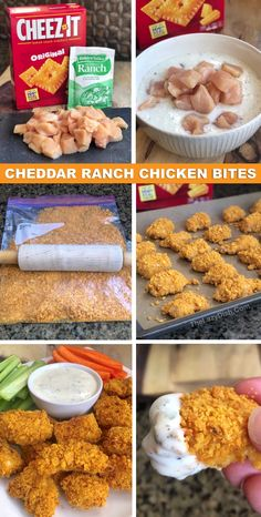 4 Ingredient Easy Cheddar Ranch Chicken Fingers - The entire family will love this easy chicken recipe! It's cheap, easy and fun to make. The Lazy Dish and easy dinner recipes Cheez-It Covered Chicken Nuggets (SOO GOOD!) Quick & Easy To Make Chicken Nuggets, Chicken Bites, Chicken Fingers, Easy Baked Chicken, Easy Chicken Recipes, Easy Dinner Recipes, Yummy Easy Dinners, Cheap Easy Dinners, Easy Recipes For Two