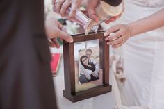 Rustic Wedding Sand Ceremony Frame - Middle brown. $38.90, via Etsy.