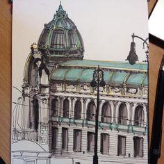 Obecný dům, Praha#art #drawing #sketch #sketchbook #marker #architecture #praha #prague #copic #promarker #ink #fabercastell #obecnydum