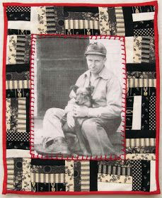 memory quilt-made with pieces of clothing and old photo printed onto fabric Quilting Projects, Quilting Designs, Sewing Projects, Quilting Ideas, Crazy Quilting, Art Projects, Memory Pillows, Memory Quilts, Photo Quilts