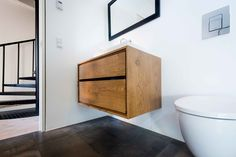 badeværelsesmøbel Floating Nightstand, Toilet, Bathroom, Furniture, Design, Homes, Home Decor, Food, Bathing