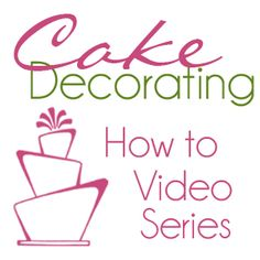 How to cover a cake with Fondant part 1- video series