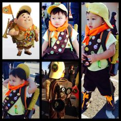 Halloween 2013, my son Ryzen dressed up as Russel the Wilderness Explorer from the Disney movie UP. #halloween #costumes #bestcostumeever #UP #Disney #DIY #russel #wildernessexplorer