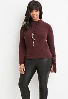 Plus Size Mock Neck Fuzzy Sweater | Forever 21 PLUS - 2000162152
