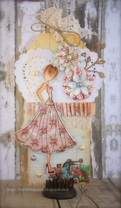 prima mixed media dolls | jo used prima mixed media doll with swing dress and prima divine 6x6 ...
