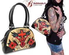 Sac à Main Rétro Pin-Up 50s Rockabilly Tattoo Love & Lust  http://www.belldandy.fr/sac-a-main-retro-pin-up-50-s-rockabilly-tattoo-love-lust.html https://www.facebook.com/belldandy.fr/photos/a.338099729399.185032.327001919399/10154603485299400/?type=3
