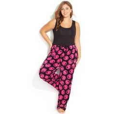 Hello Kitty Plus Size Spendid Colors Plush Pajama Pants ($9.80) ❤ liked on Polyvore featuring plus size women's fashion, plus size clothing, plus size intimates, plus size sleepwear, plus size pajamas, black, plus size sleep wear, hello kitty pajamas, black pj pants and hello kitty