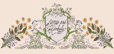 Wedding website crest main page