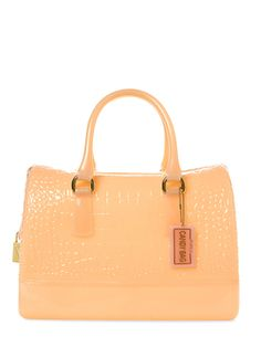 Candy Croc Embossed Satchel from Of-The-Moment Extras: Sorbet Shades on Gilt