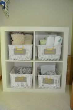 Project Nursery - Closet organization