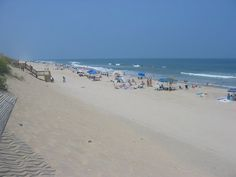 """A """"crowded"""" beach in Corolla, NC.  This is what July 4th looks like on the beach."""