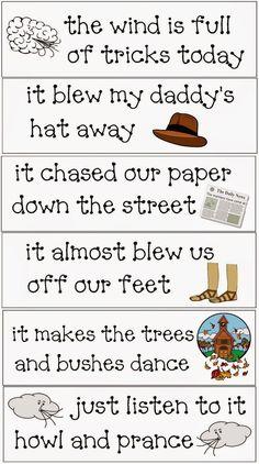 Classroom Freebies: Wind Tricks Poetry Packet                              …