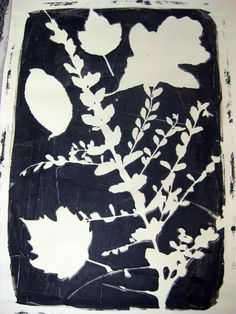 Cassie Stephens: In the Art Room: Leafy Spring Prints