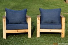 Check out how to build these DIY chairs for your backyard or patio @istandarddesign