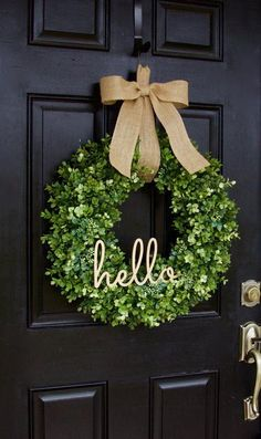 "15/"" Boxwood Wreath Green Bundled with 2 Hooks for Hanging Indoor or Outdoor"