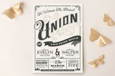 A Blessed Union Wedding Invitations by GeekInk Design at minted.com
