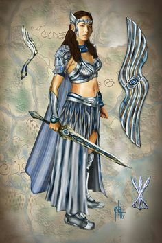 Amihan concept art by Noel Layon Flores. Second-born daughter of Mine-a with Prince Raquim and the crowned queen/hara of Lireo. Encantadia 2016 Costume, Encantadia Costume, Warrior Outfit, Warrior Costume, Mythology Costumes, Kylie Padilla, Philippine Mythology, Debut Dresses, Comic Anime